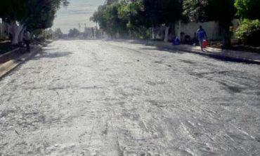 Invierten 10 MDP en pavimentación de calle Caborca