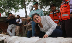 Supervisa Alcaldesa Célida López Trabajos de contención por afectaciones de la depresión tropical 19E