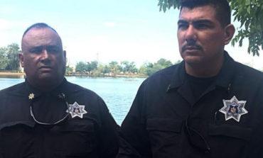 Salvan policías municipales a mujer que se arrojó a la Laguna del Náinari