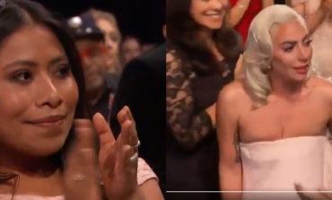Así reaccionó Yalitza cuando Lady Gaga ganó como Mejor Actriz