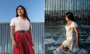 Yalitza impacta en 'photoshoot' frente al muro fronterizo