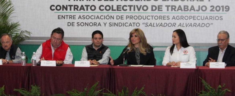 Firman aumento salarial histórico para jornaleros del campo de Sonora