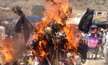 Presencian quema de máscaras en ramadas Yaquis