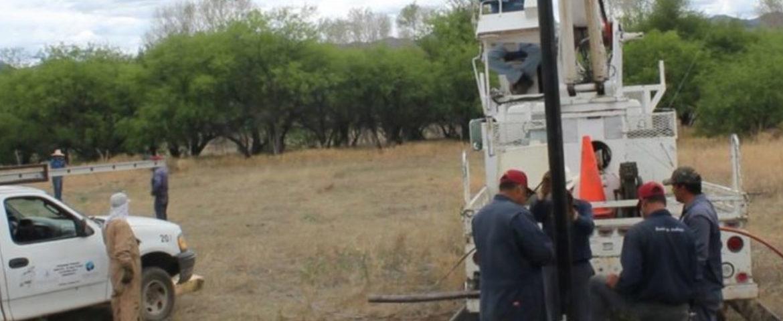 Rehabilitan pozos para garantizar abasto de agua en Nogales