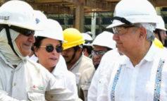 Recorre López Obrador refinería de Guanajuato