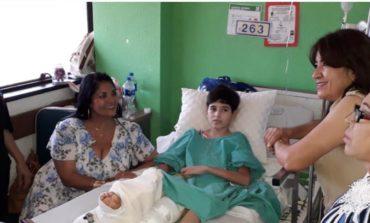 Visita Alcaldesa de Navojoa al regidor infantil en Hospital del IMSS en Obregón