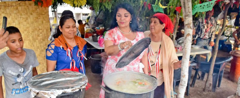 Asiste Alcaldesa a Fiestas Tradicionales en Honor a San Cayetano, en Bacabachi