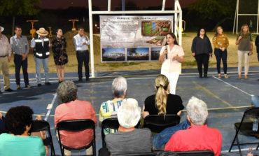 Confirma Alcaldesa Celida López obras en parque de la colonia Los Portales