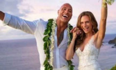 Dwayne Johnson se casa con su guapa novia en Hawái