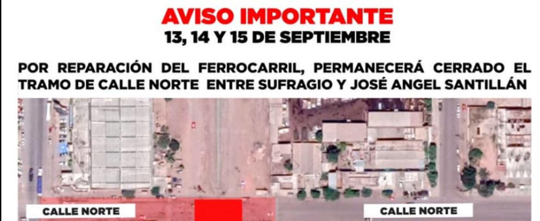 Cerrarán Tramo De Calle Norte Entre Sufragio Y José Ángel Santillán