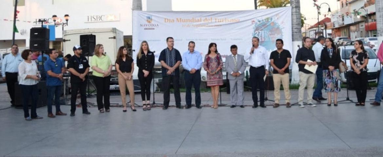Celebran Día Mundial del Turismo en Plaza 5 de Mayo