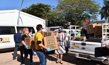 Gobierno Municipal y DIF entregan despensas a Pueblo Mayo.