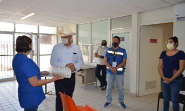 Presidente Ramón Díaz recorre las instalaciones de la coordinación de salud habilitada como centro COVID-19