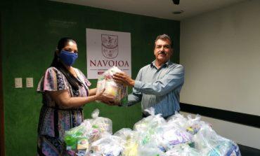 Alcaldesa entrega despensas a Sindicato de Filarmónicos de Navojoa