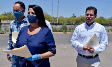 Alcaldesa Rosario Quintero y directivos del IMSS supervisan terreno donde se construirá Hospital Regional de Zon