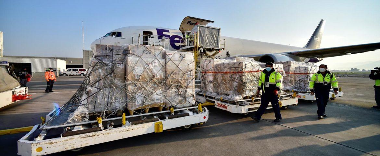 Llegan a México 211 ventiladores desde Estados Unidos