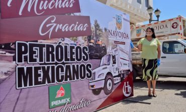 Gracias a gestiones de Alcaldesa Rosario Quintero ante PEMEX, se rehabilitarán calles.