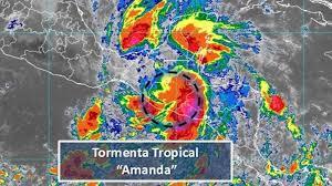 Se degrada Amanda a depresión tropical en su trayectoria hacia México