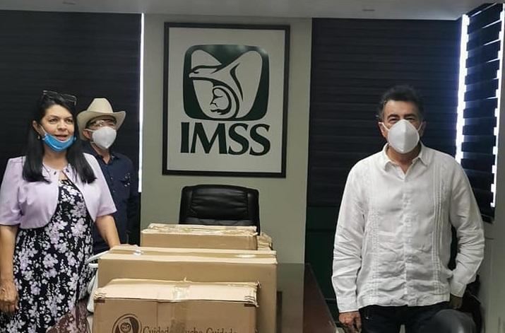 DIPUTADOS MORENISTAS DE CAJEME APOYAN CON MATERIAL DE PROTECCIÓN A PERSONAL MÉDICO DEL IMSS.