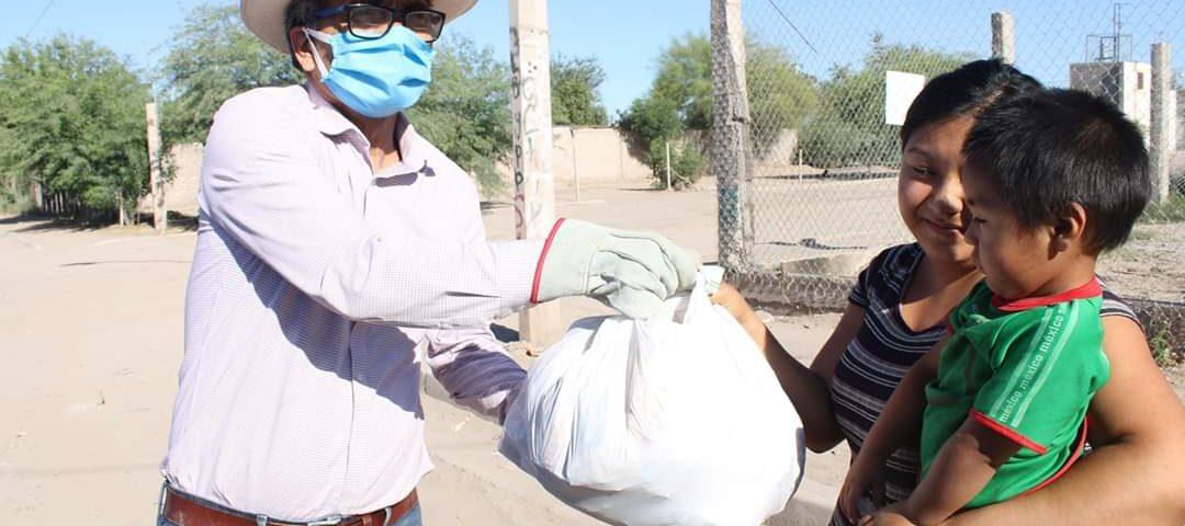 El diputado Chaira Ortiz hizo entrega de insumos alimenticios en el Poblado Miguel Alemán.