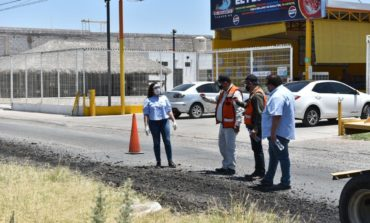 Supervisa Celida López obra de recarpeteo en bulevar Las Quintas