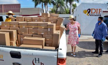 Recorren nuevamente comunidades con apoyos alimentarios