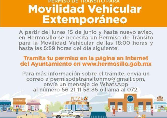 Avanza expedición de permiso de tránsito para movilidad vehicular extemporáneo