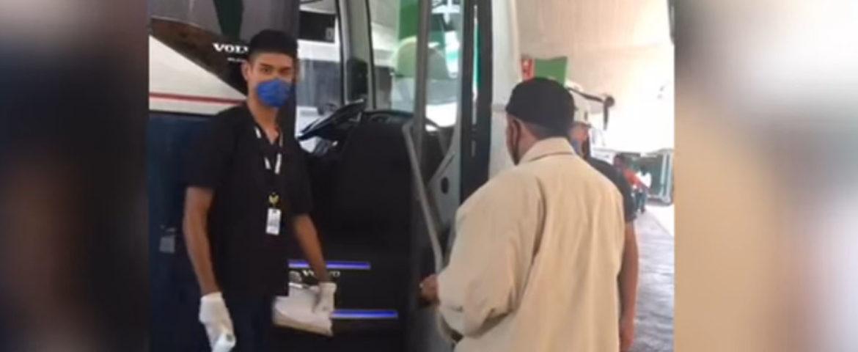 Refuerzan medidas sanitarias en Central de Autobuses de Ciudad Obregón