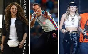 Shakira, Coldplay y Miley Cyrus participarán en concierto virtual