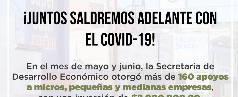 CUMPLE AYUNTAMIENTO CON ENTREGA DE APOYOS DEL FONDO MUNICIPAL PARA LAS MIPYMES Y COMERCIOS INFORMALES