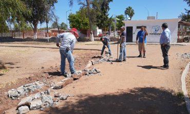 Continúan obras públicas programadas para este año en la Unidad Deportiva Municipal Baldomero Melo Almada