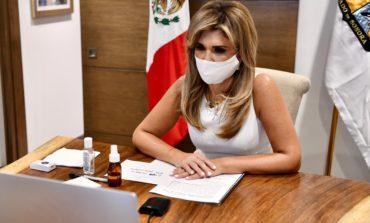 Acuerda Gobernadora con Canciller Ebrard instalar filtros en la frontera para evitar cruce no esencial de Estados Unidos a Sonora
