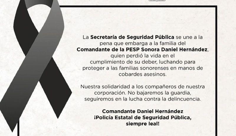 Fallece comandante de la PESP en enfrentamiento armado
