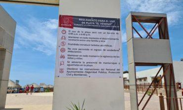 Aplican protocolos de seguridad e higiene en playas; dispone Ayuntamiento de Guaymas ambulancia en El Veneno