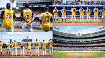Emotivo homenaje de los Dodgers a Kobe Bryant en su cumpleaños 42