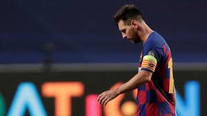 Messi contempla su salida del Barcelona