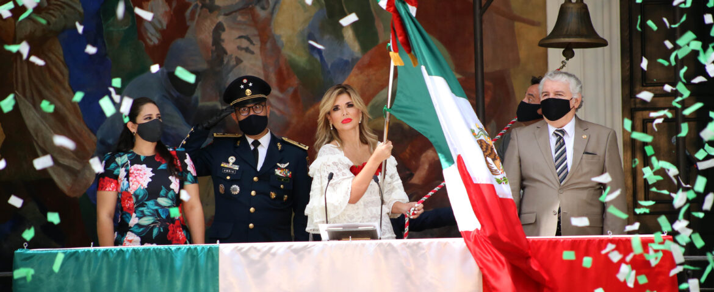 Gobernadora Pavlovich encabeza ceremonia virtual del Grito de Independencia