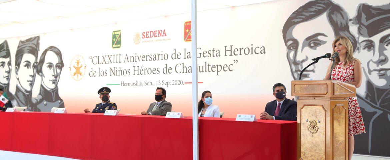 Reconoce Gobernadora a trabajadoras y trabajadores de la salud en aniversario de la Gesta Heroica de los Niños Héroes de Chapultepec