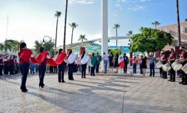 Realizan ceremonia cívica en el último lunes de septiembre
