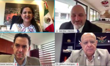 Estrecha Celida López lazos de colaboración con nuevo Cónsul General de EU en Hermosillo
