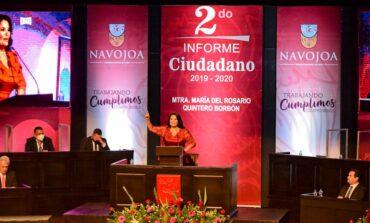 Alcaldesa Rosario Quintero rinde Segundo Informe de Gobierno