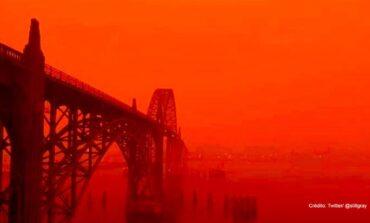 Un cielo naranja con tinte apocalíptico cubre San Francisco tras incendios