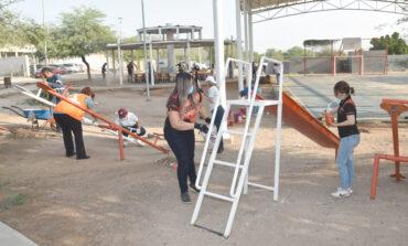 Inician vecinos y servidores públicos municipales transformación de parque de la colonia Palo Verde