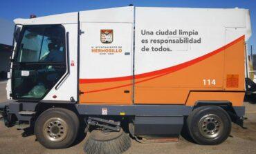 Anuncia alcaldesa Celida Lopez adquisición de 3 barredoras nuevas para Hermosillo