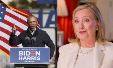 Hillary Clinton y Barack Obama celebran el triunfo de Biden y Harris