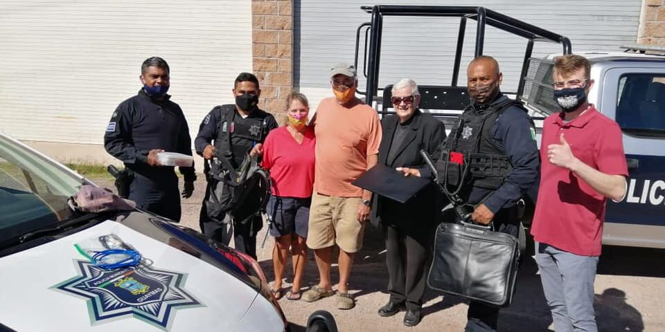 Policía Municipal recupera botín de robo en San Carlos