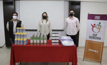 Entrega DIF Sonora material preventivo a médicos pasantes